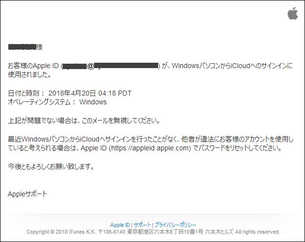 Apple正式メール加工