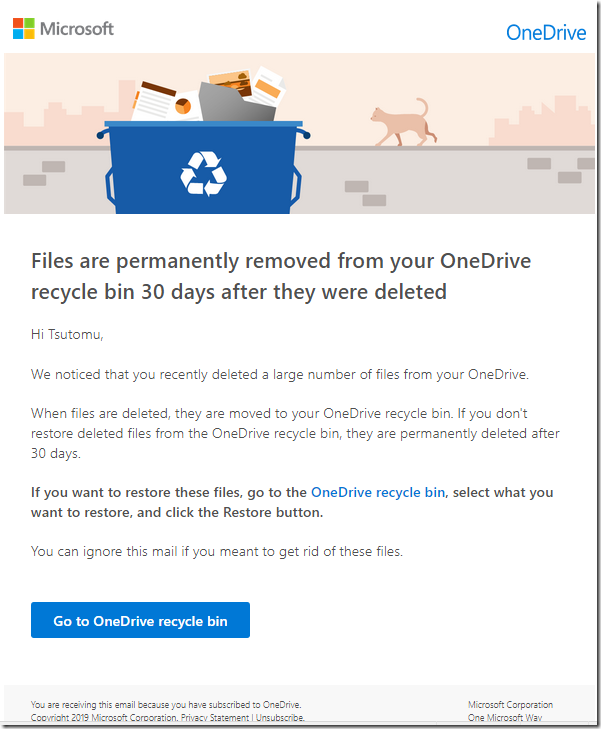onedrive deleted