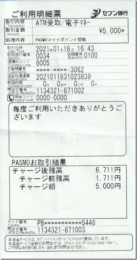 マイナーポイントチャージ 202101189-1